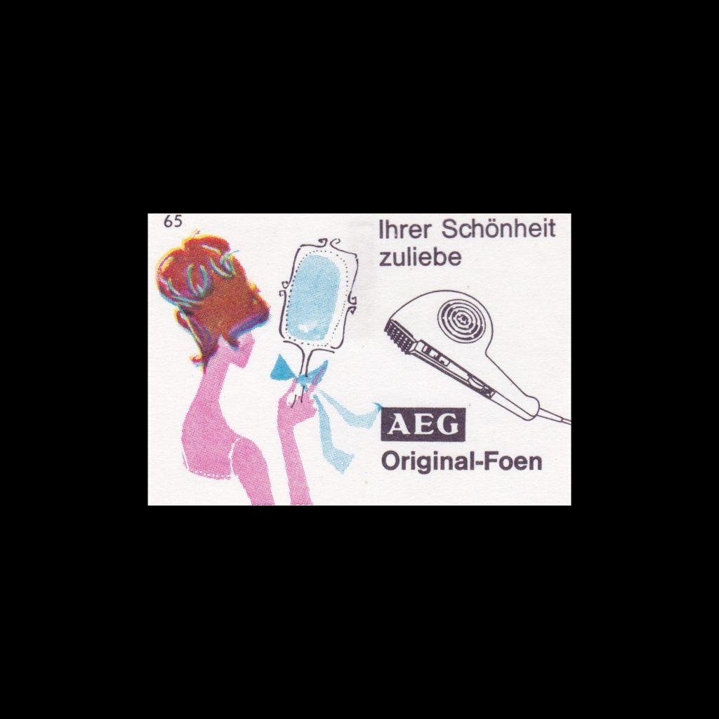 German matchbox labels for AEG (Allgemeine Elektricitäts-Gesellschaft) German for 'General electricity company'