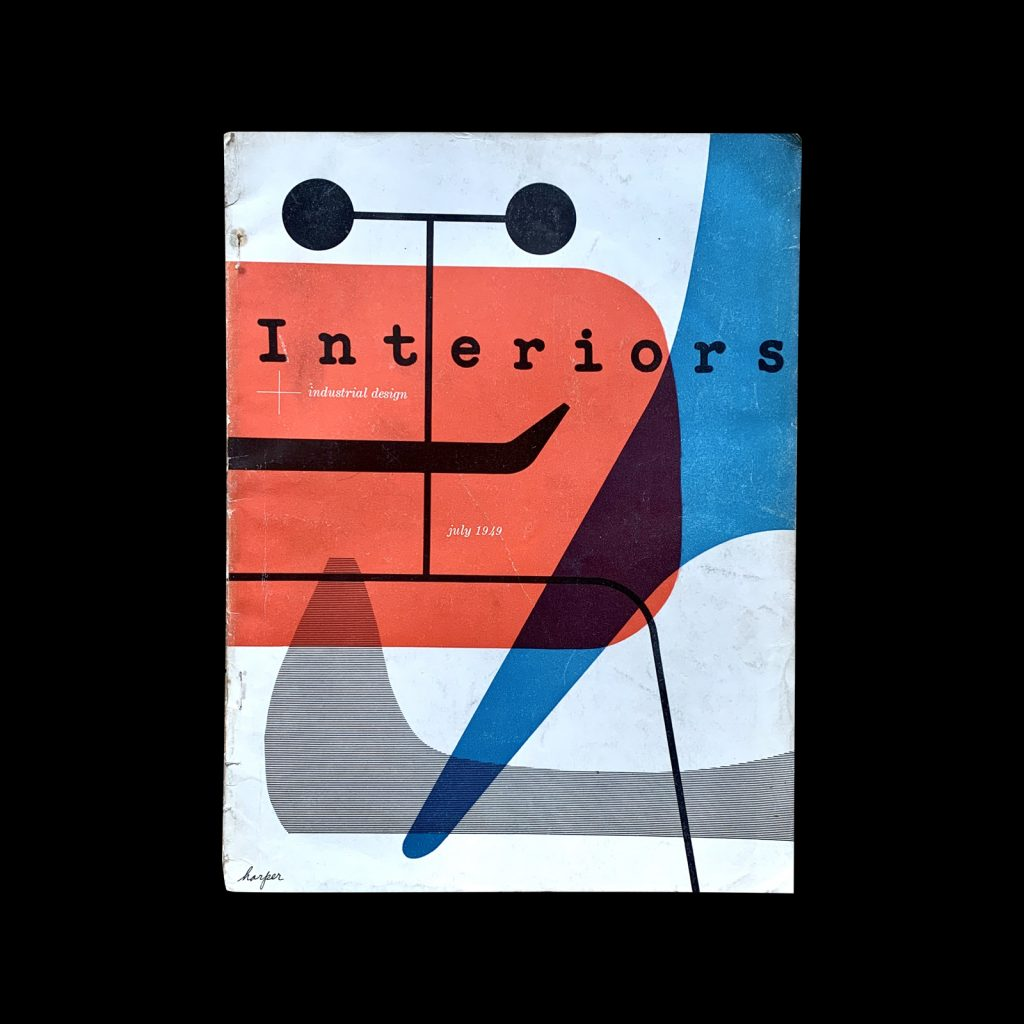 Interiors July-1949, Cover design by Irving Harper