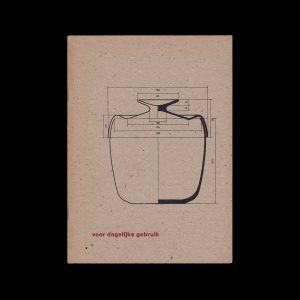 Wilhelm Wagenfeld. - Ontwerper en fabriek werken / voor dagelijks gebruik, Stedelijk Museum Amsterdam, 1961 designed by Willem Sandberg