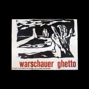 Warschauer Ghetto tentoonstelling, Stedelijk Museum Amsterdam, 1961 designed by Willem Sandberg