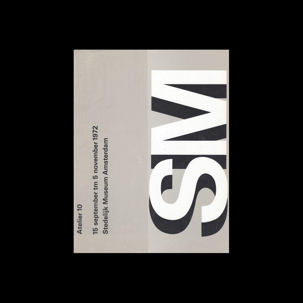 Atelier 10, Stedelijk Museum, Amsterdam, 1972 designed by Wim Crouwel and Jos van der Zwaan (Total Design)