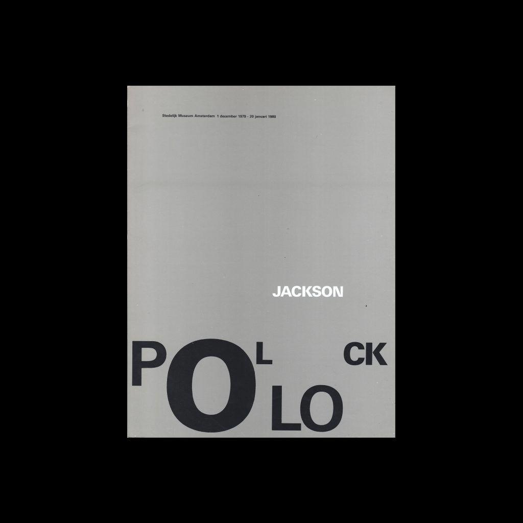 Jackson Pollock, Stedelijk Museum, Amsterdam, 1980 designed by Wim Crouwel and Arlette Brouwers (Total Design)