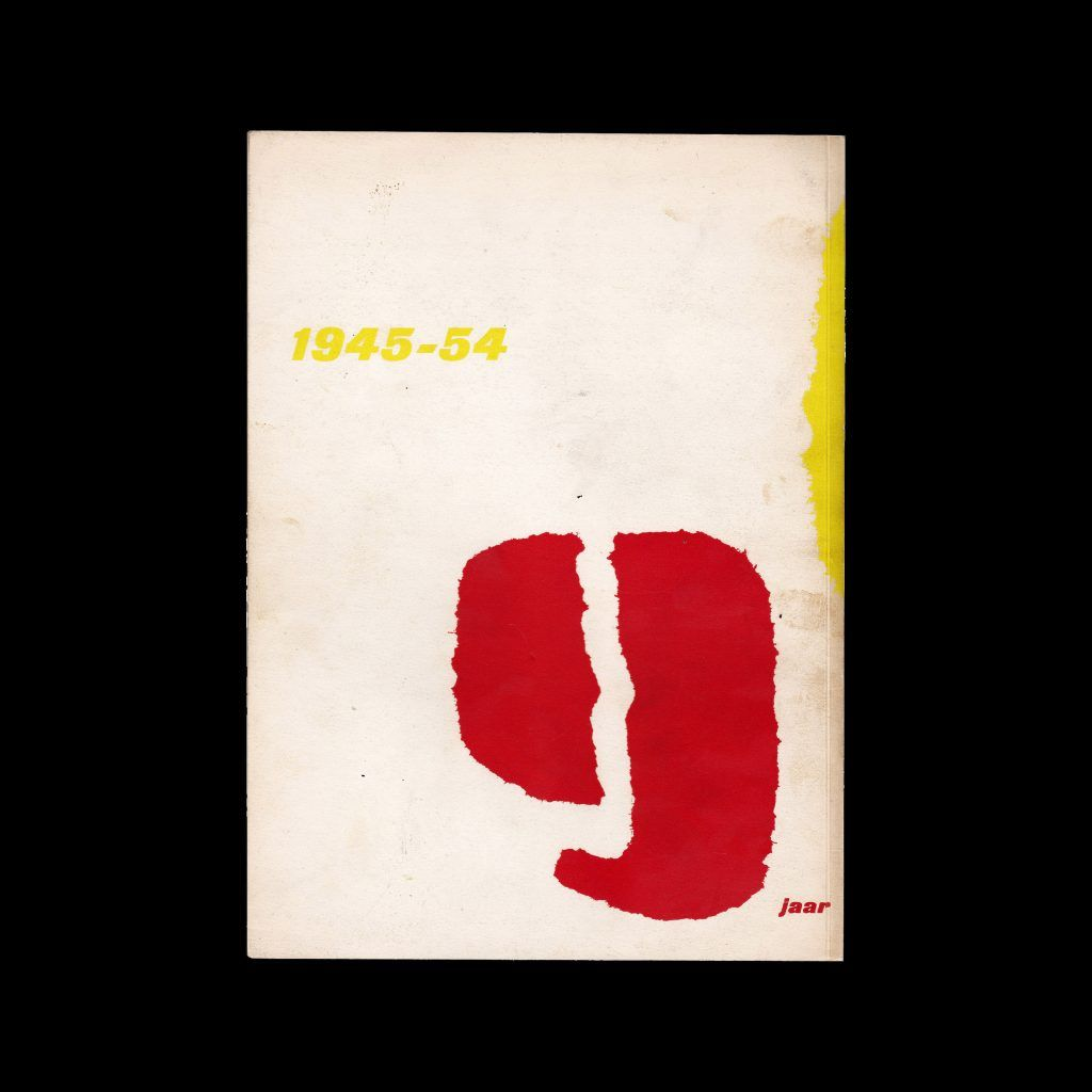 9 jaar Stedelijk Museum Amsterdam, 1945-54 designed by Willem Sandberg