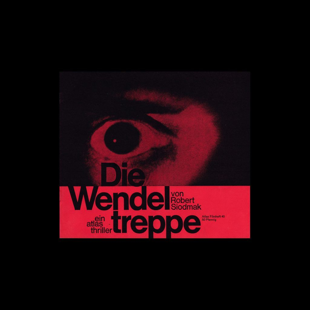 Atlas Filmheft 40 - Die Wendeltreppe designed by Hans Michel