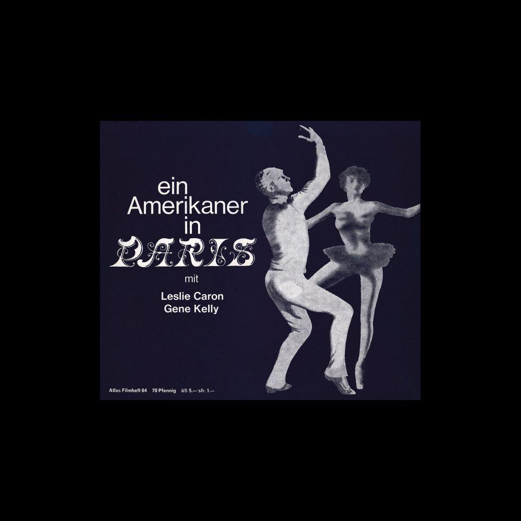 Atlas Filmheft 64 - Ein Amerikaner in Paris designed by Michel + Kieser