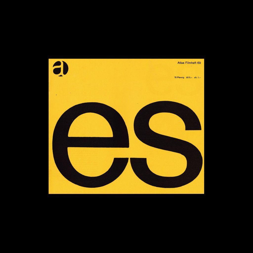 Atlas Filmheft 69 - Es designed by Karl Oskar Blase