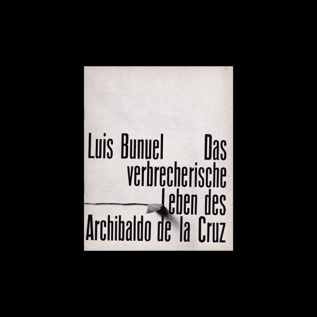 Das verbrecherische Leben des Archbaldo de la Cruz. Die Kleine Filmkunstreihe 18 designed by Hans Hillmann