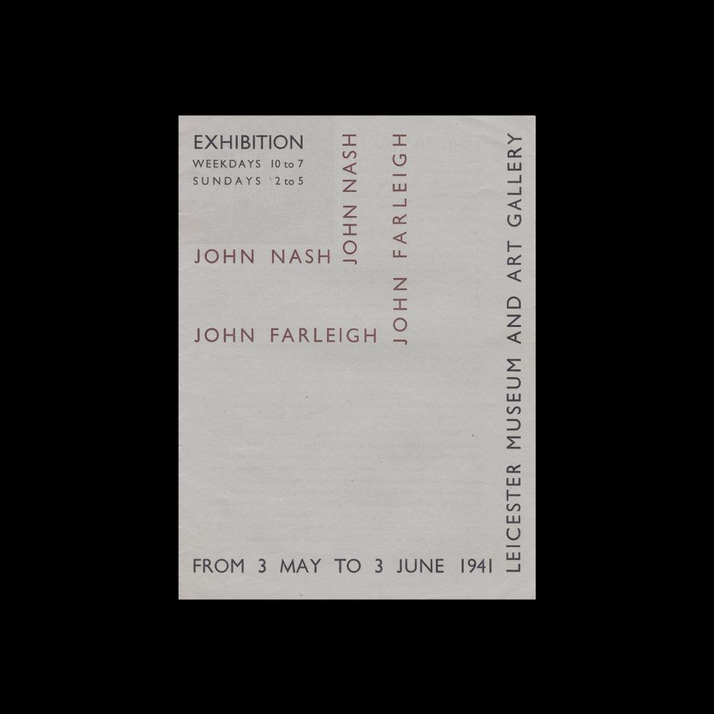 John Nash and John Farleigh, Leicester Museum and Art Gallery, 1941