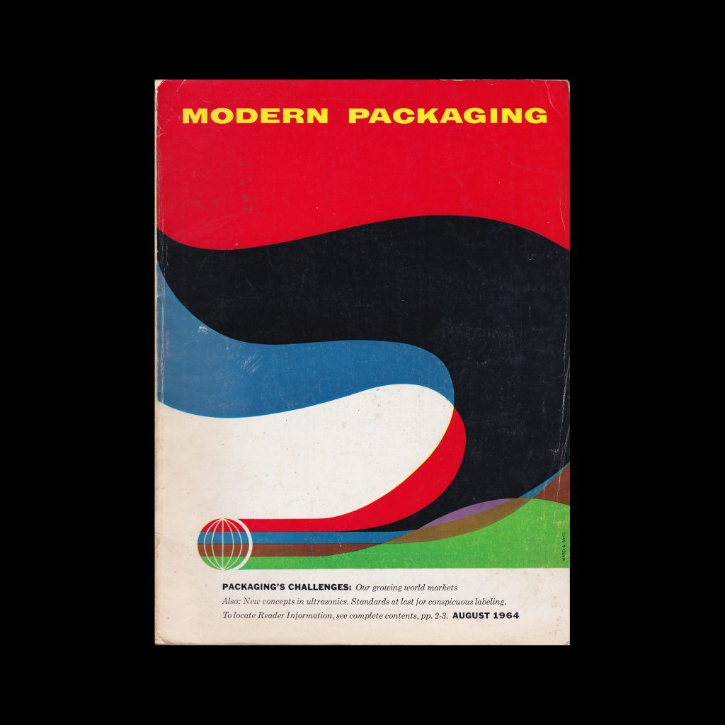 Modern Packaging, August 1964 designed by Ward & Saks