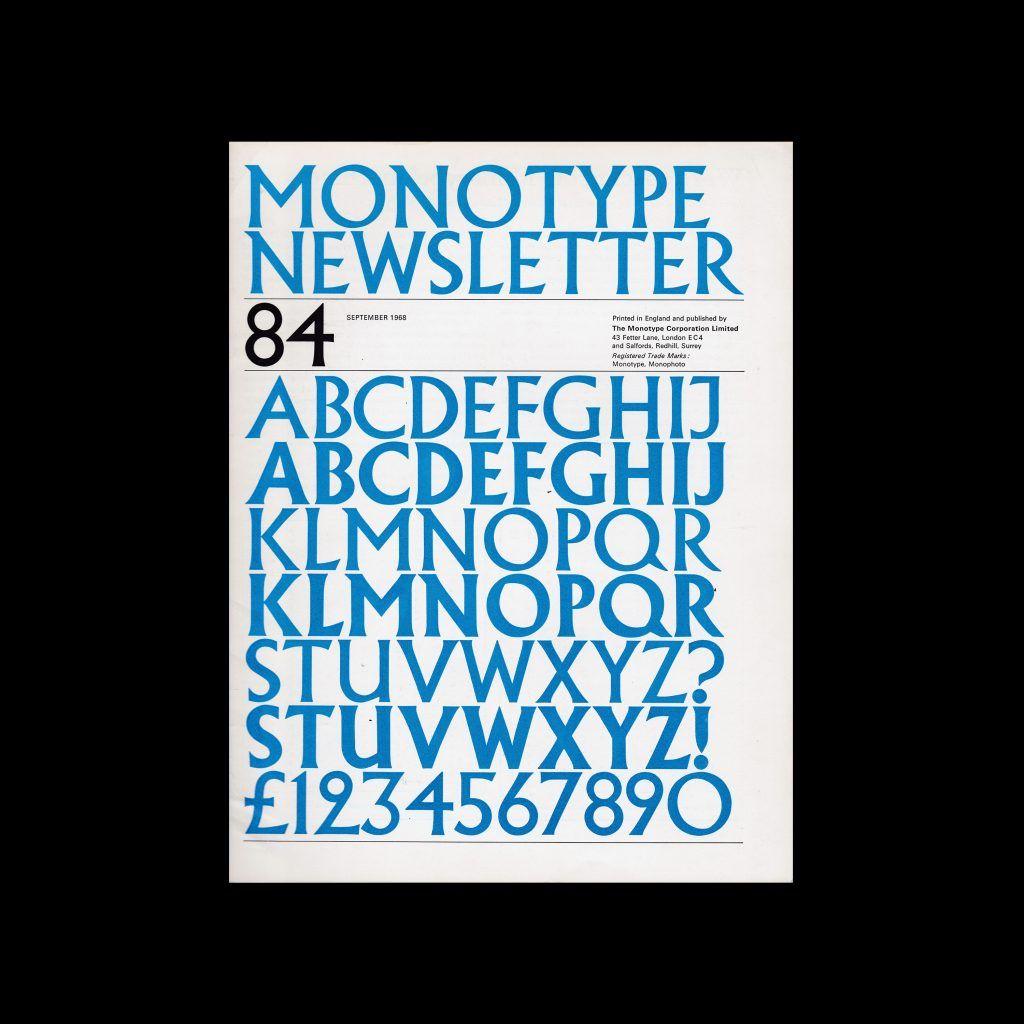 Monotype Newsletter 84, September 1968