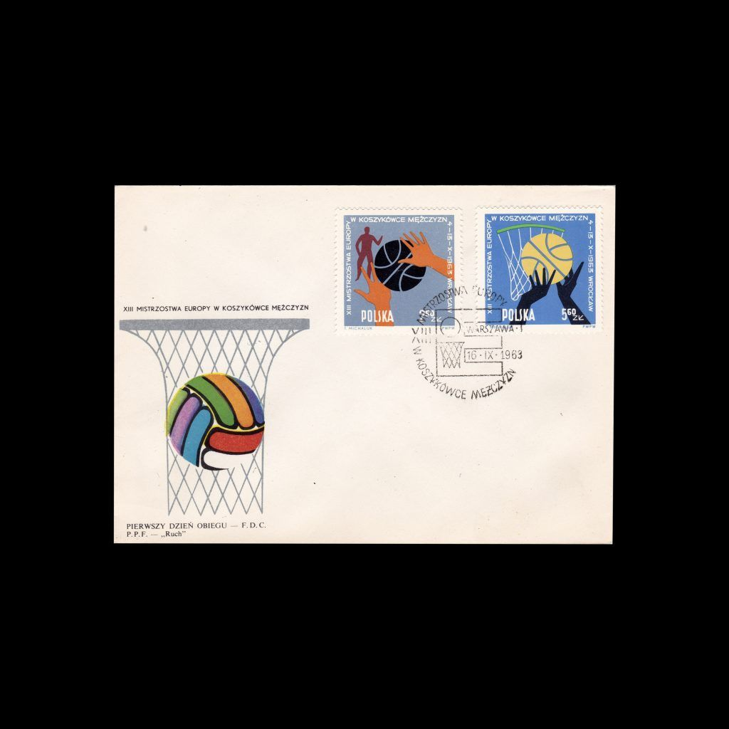 European basketball, Poland FDC, 1963