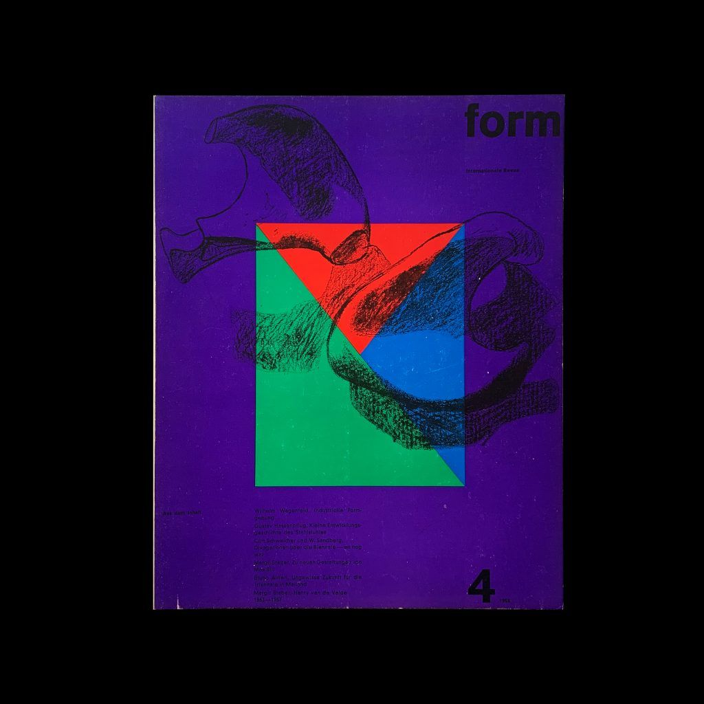 Form, Internationale Revue 4, 1958 , Cover: Le Corbusier, Inners: Müller-Blase