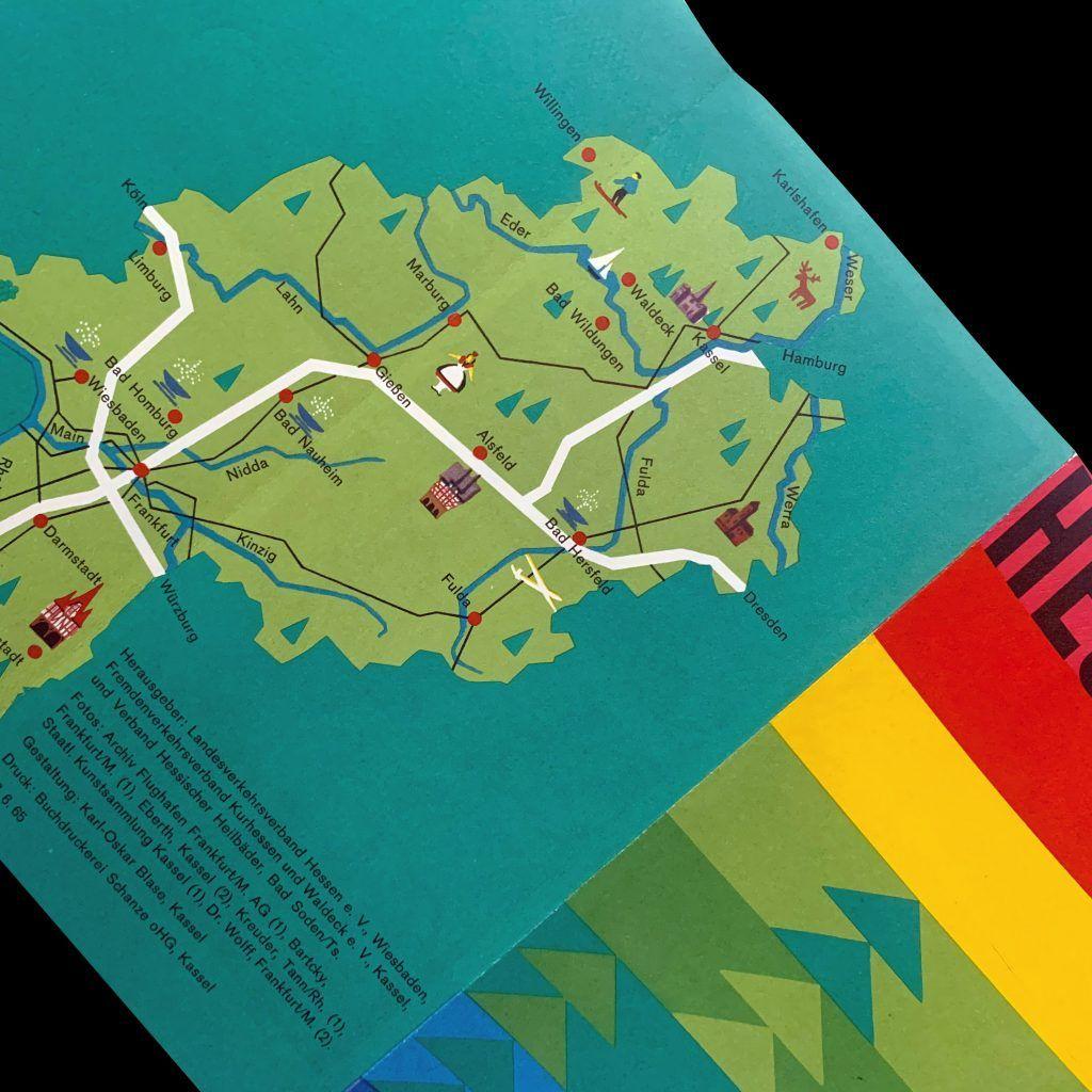Hessen Travel Brochure designed by Karl Oskar Blase