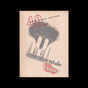 Monumentale Kunst, 40 Jaar, Stedelijk Museum Amsterdam, 1935