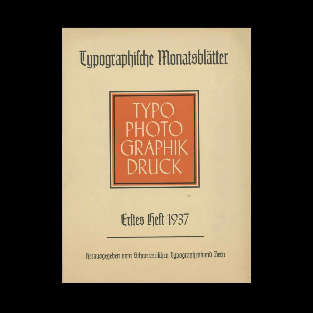 Typografische Monatsblätter, 1, 1937