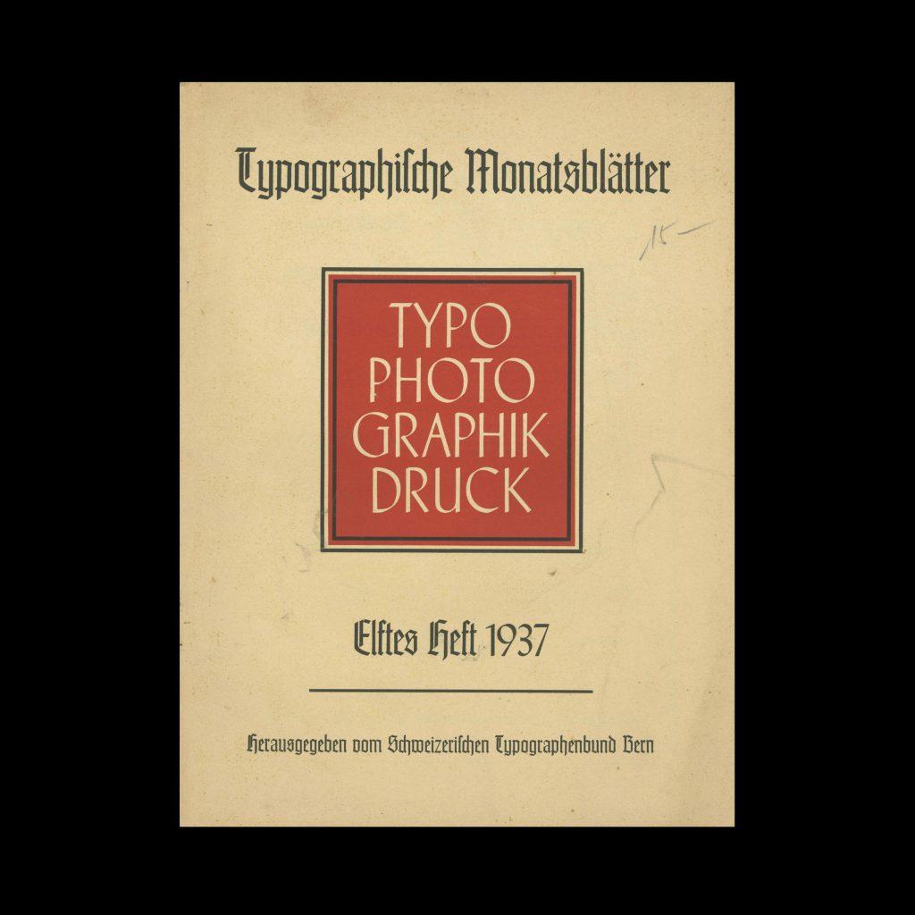 Typografische Monatsblätter, 11, 1937