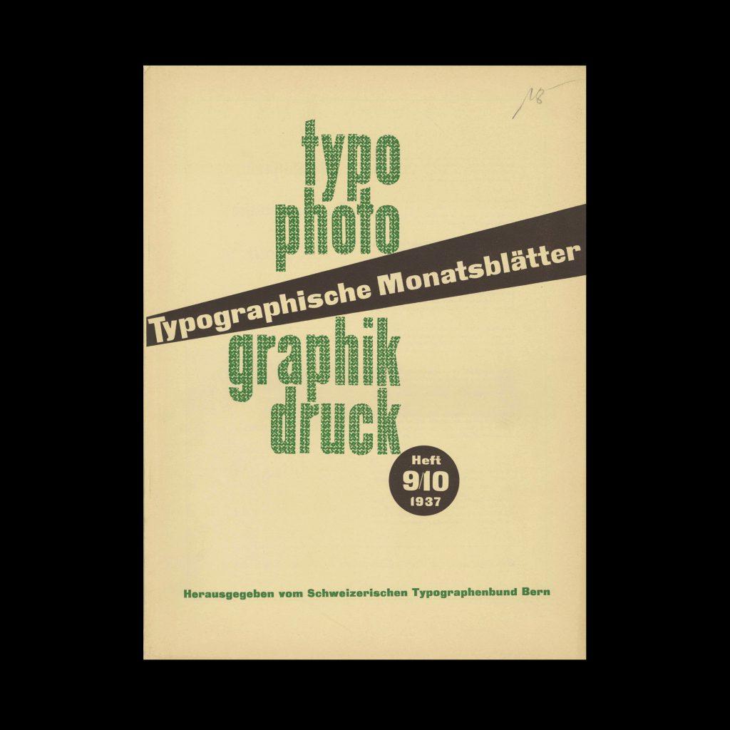 Typografische Monatsblätter, 9-10, 1937