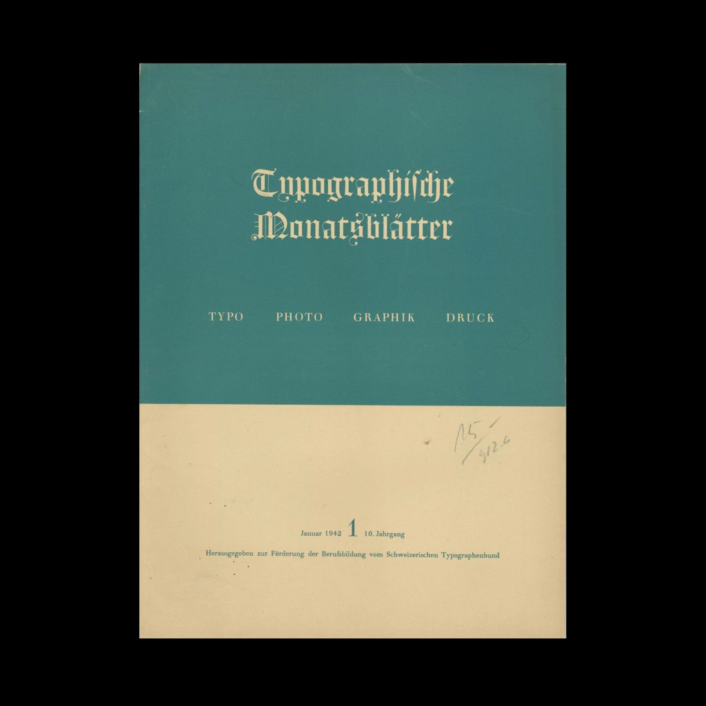 Typografische Monatsblätter, 1, 1942