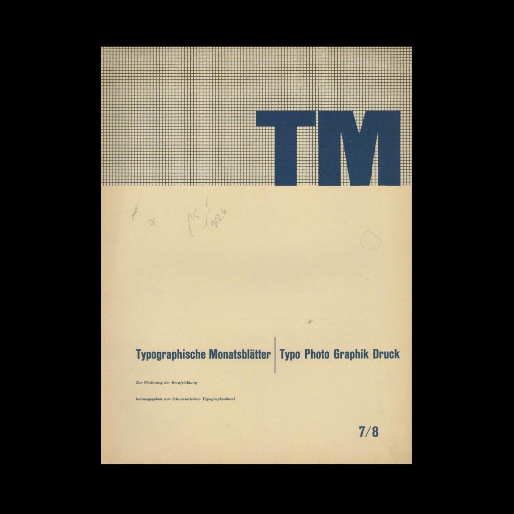 Typografische Monatsblätter, 7-8, 1948