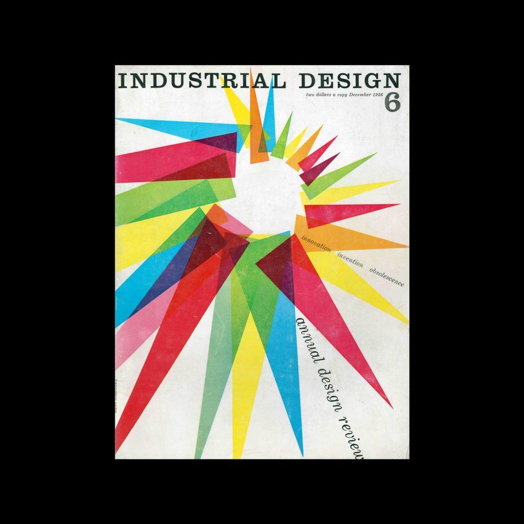Industrial Design, December, 1956. Cover design by Martin Rosenzweig