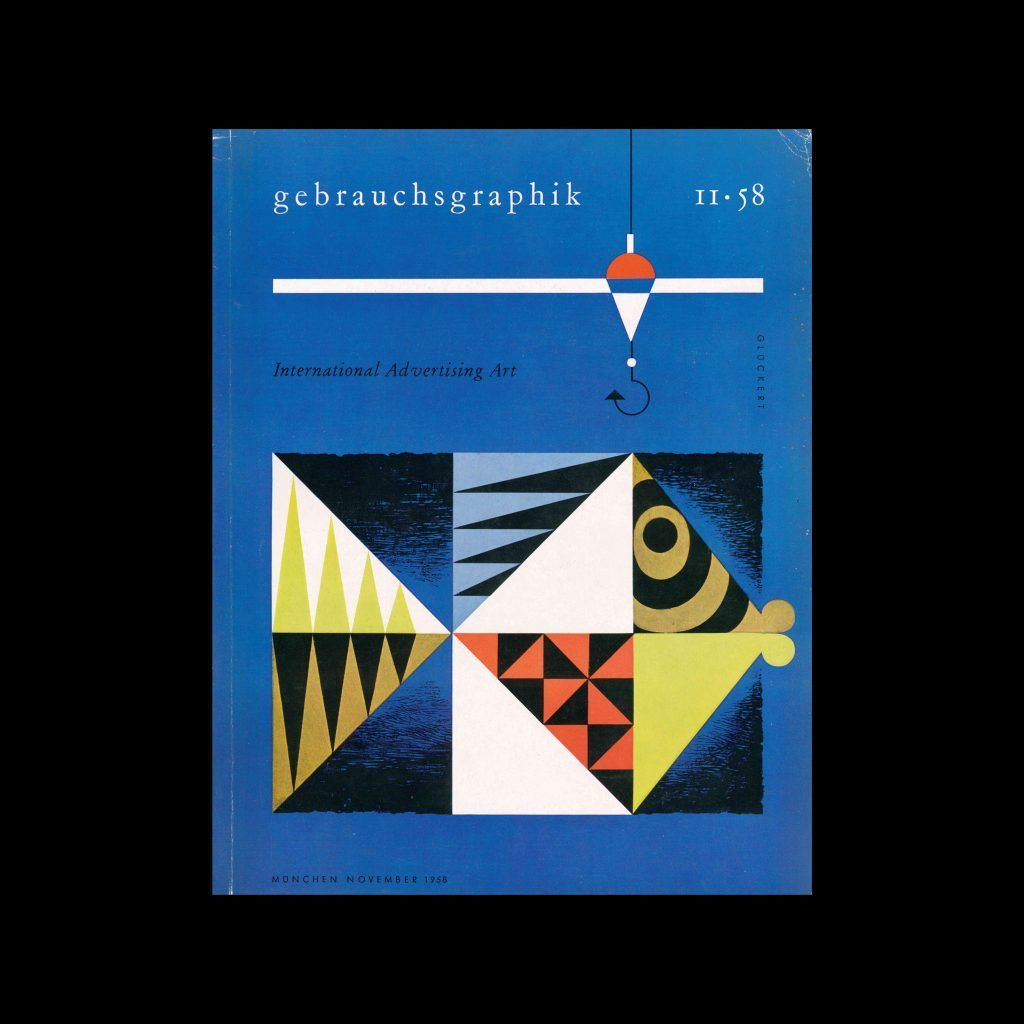 Gebrauchsgraphik, 11, 1958. Cover design by Gluckert