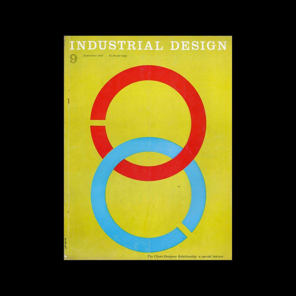 Industrial Design, September, 1958. Cover designed by James S Ward