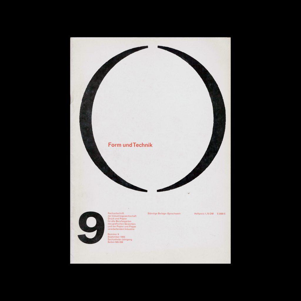 Form und Technik, 9, 1965