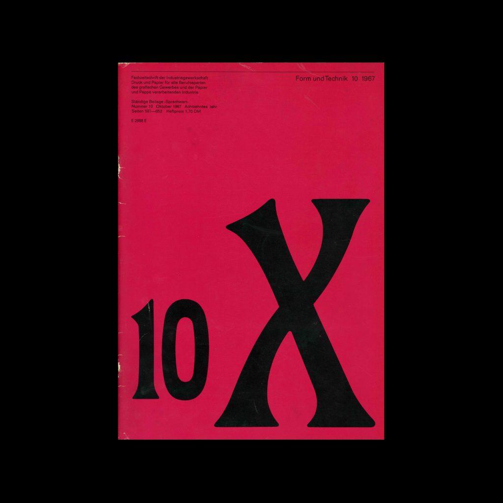 Form und Technik, 10, 1967