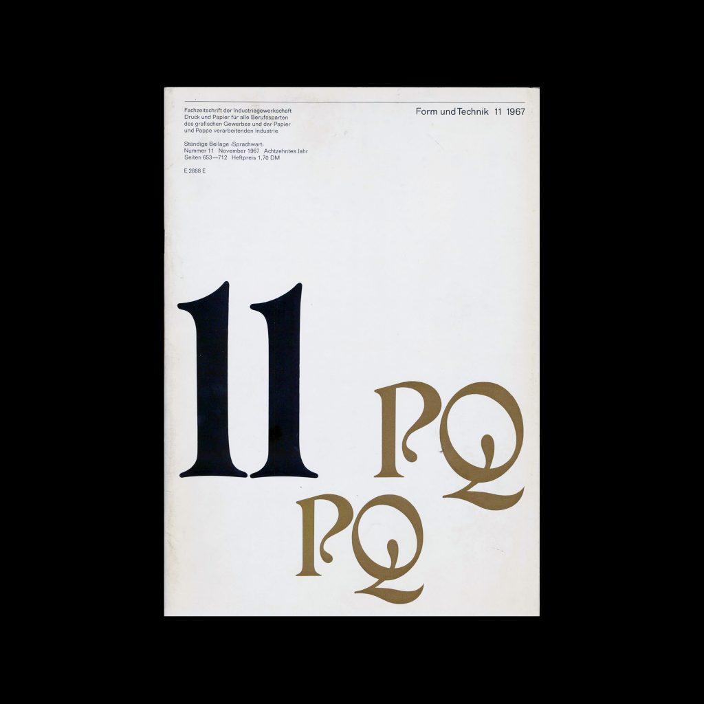 Form und Technik, 11, 1967