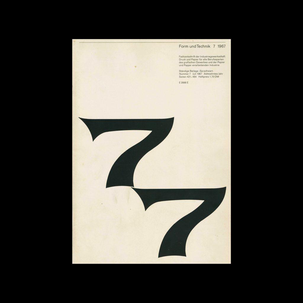 Form und Technik, 7, 1967