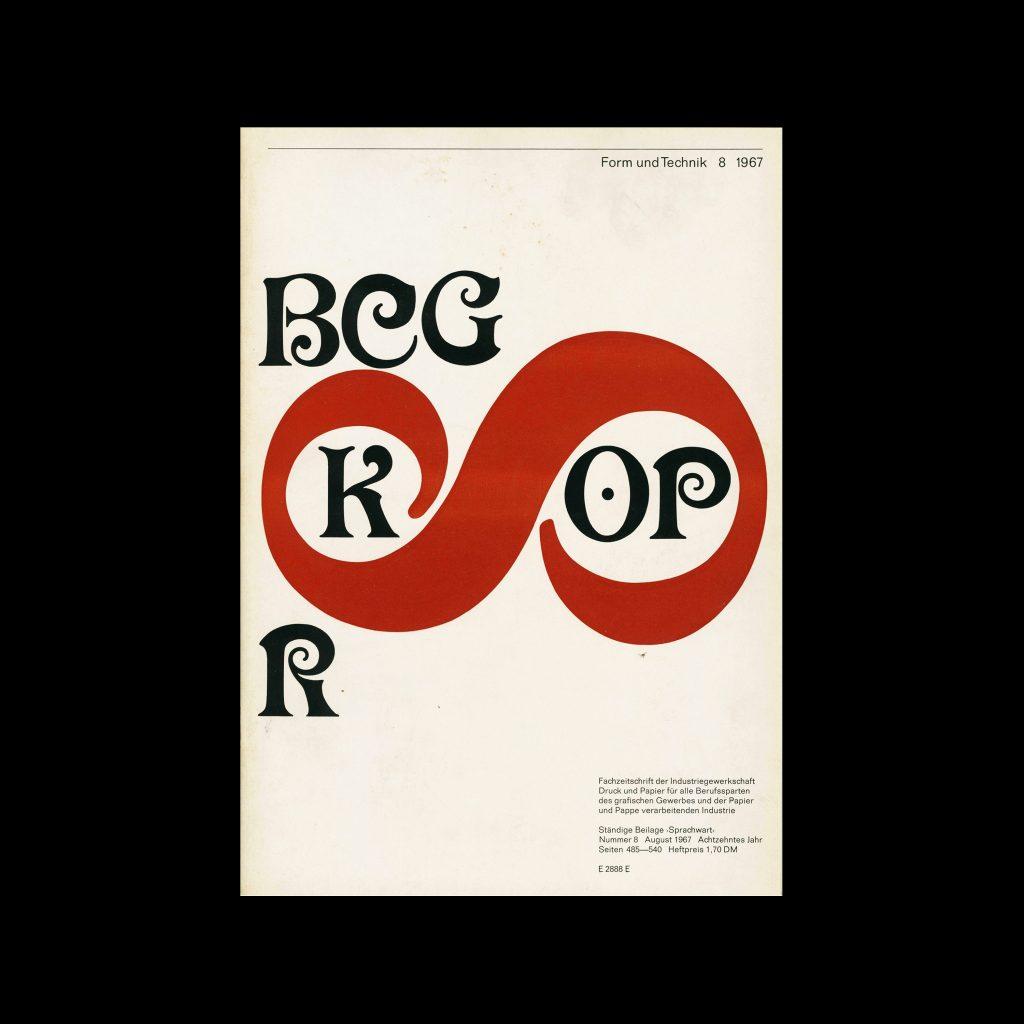 Form und Technik, 8, 1967