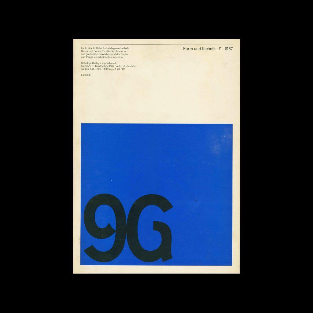Form und Technik, 9, 1967