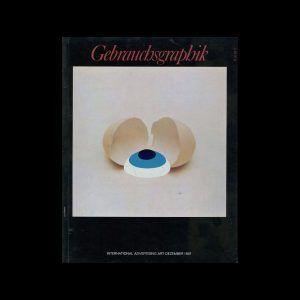 Gebrauchsgraphik, 12, 1967. Cover design by Lutz Roeder