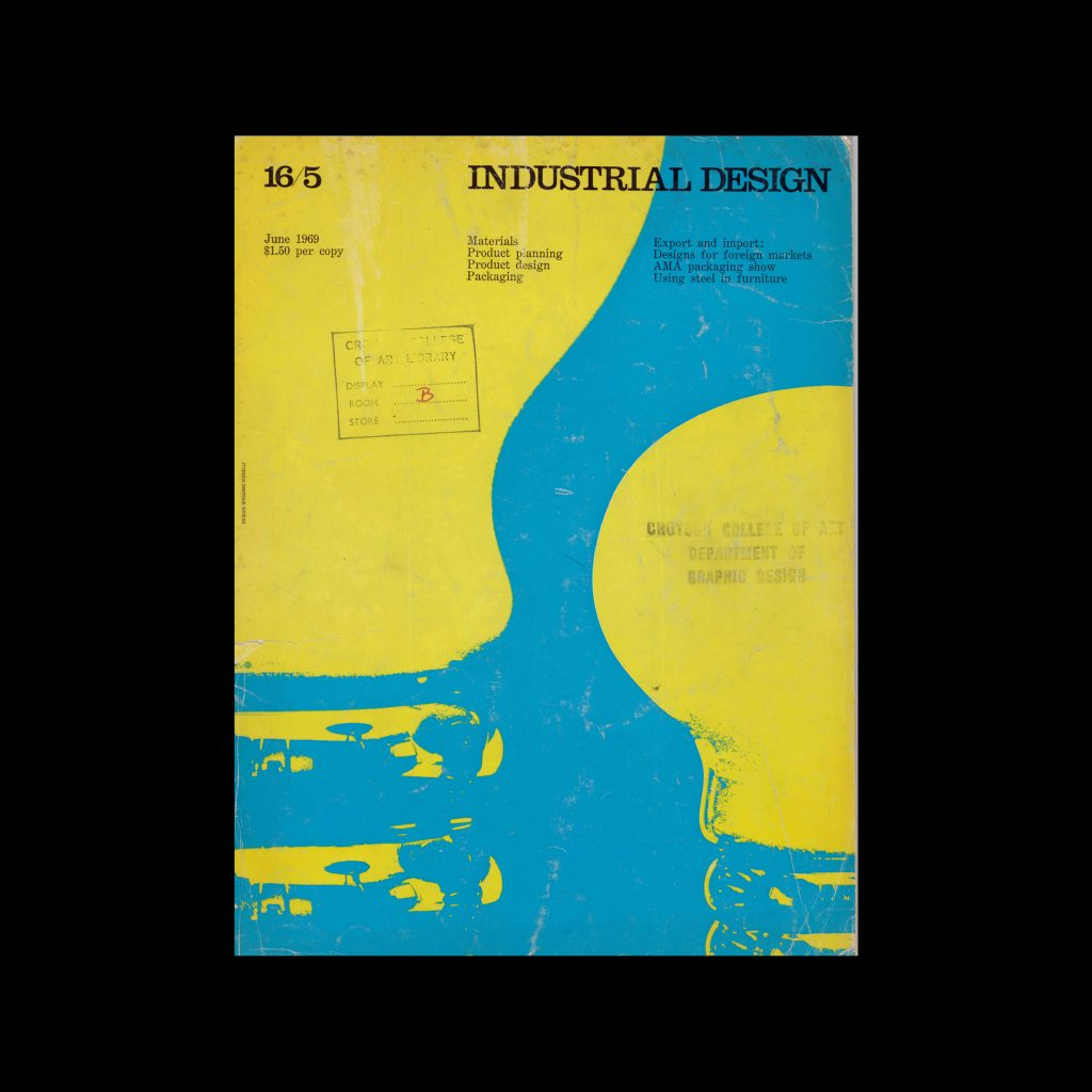Industrial Design, June, 1969. Cover design by Massimo Vignelli