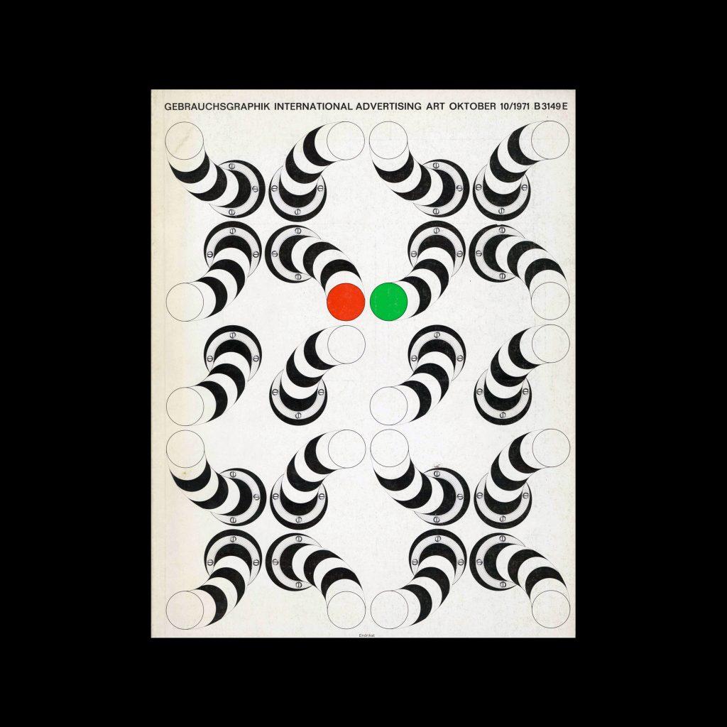 Gebrauchsgraphik, 10, 1971. Cover design by Endrikat
