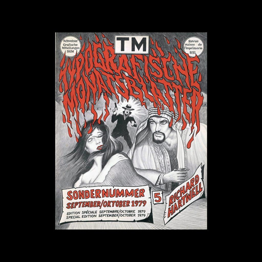 Typografische Monatsblätter, 5, 1979. Cover design by Richard Hartwell