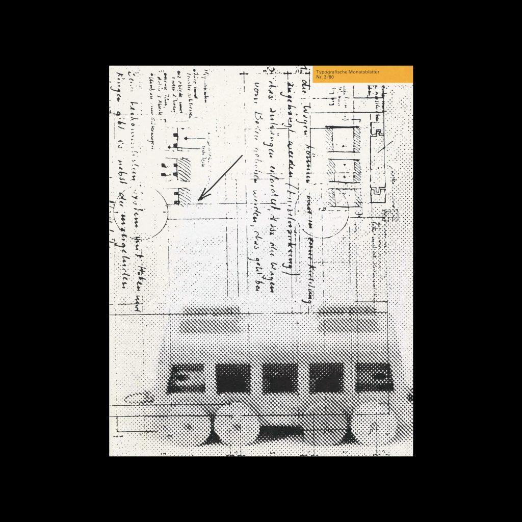 Typografische Monatsblätter, 3, 1980. Cover design by Hansruedi Buob