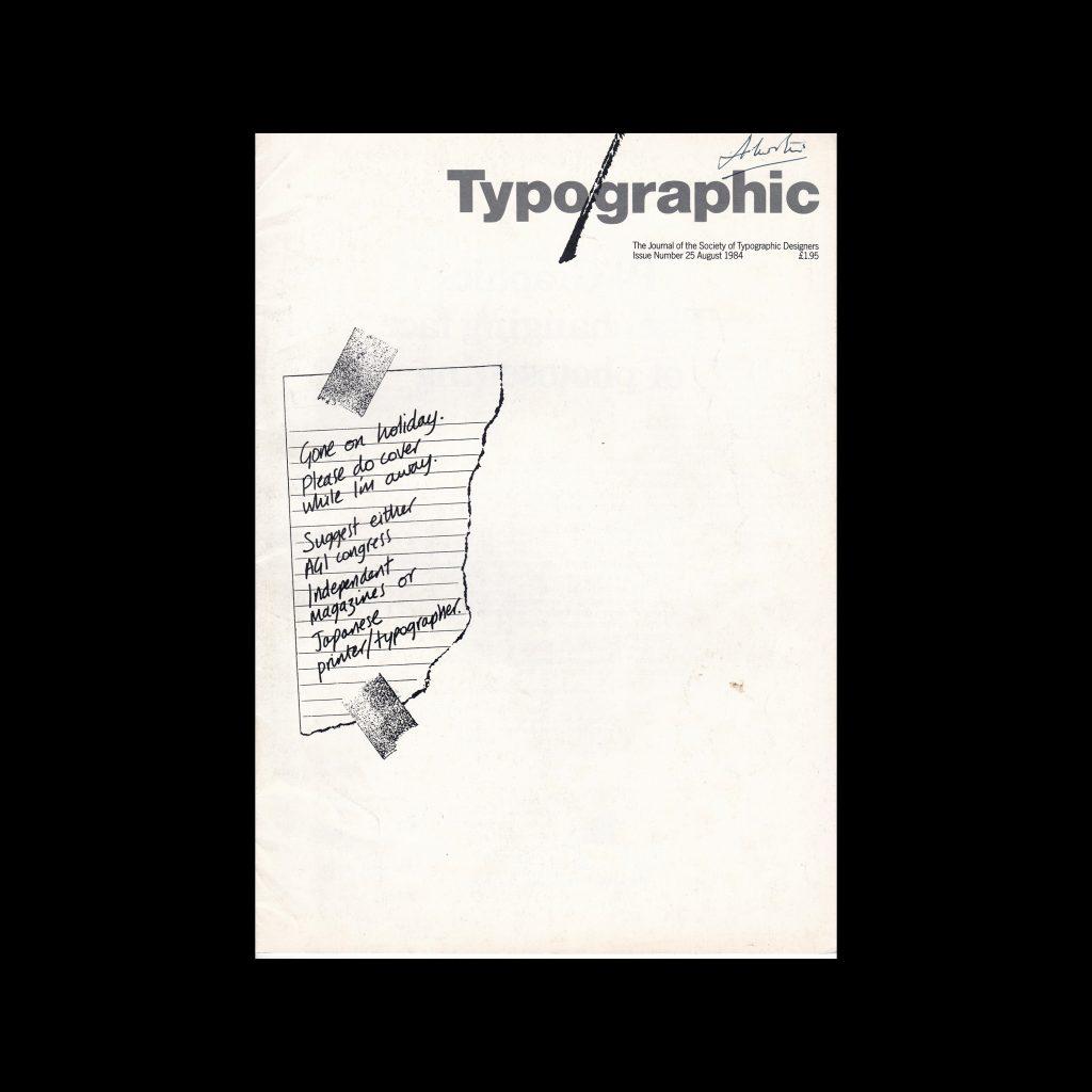 Typographic, 25, August 1984