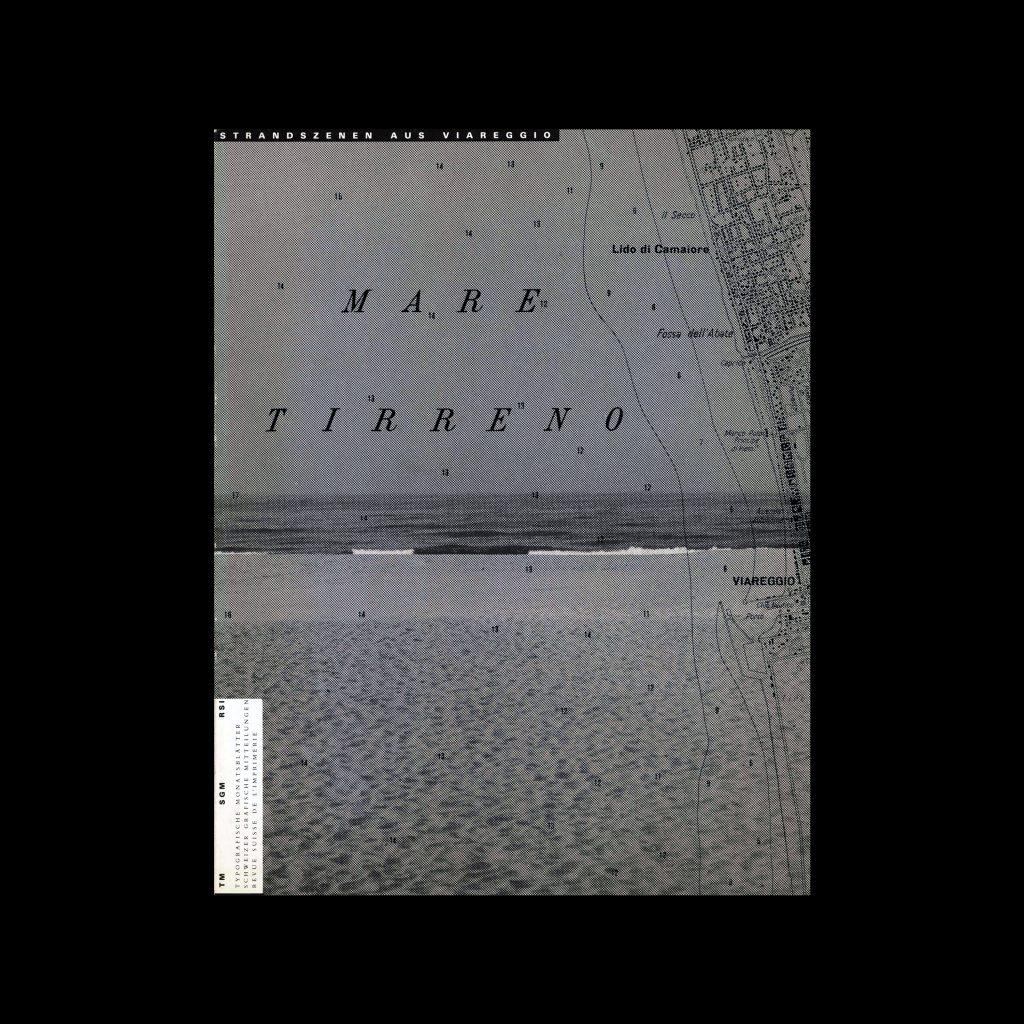 Typografische Monatsblätter, 3, 1985. Cover design by Jean Robert