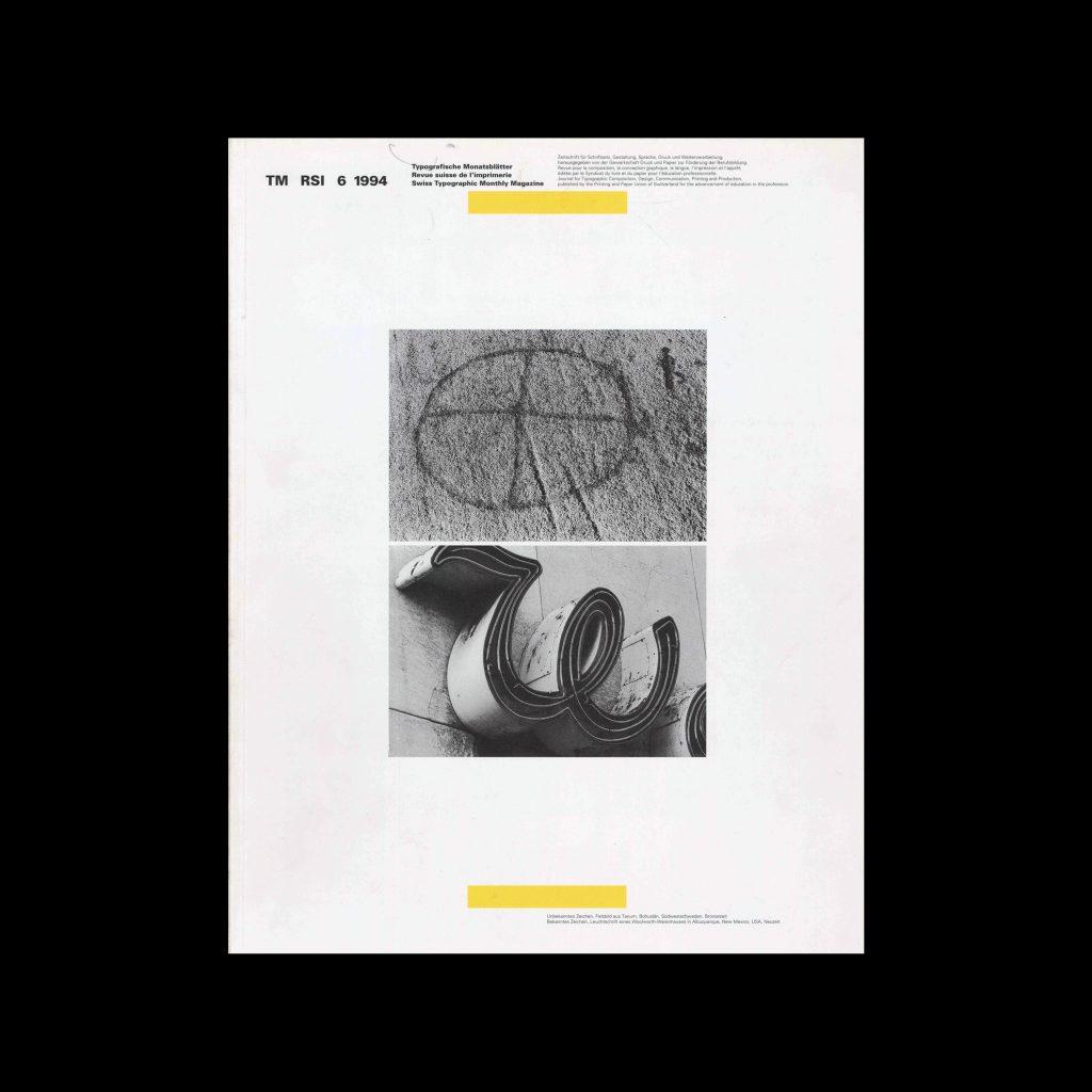 Typografische Monatsblätter, 6, 1994