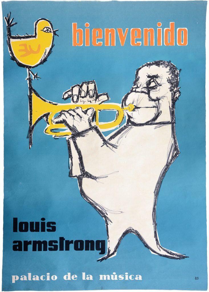 Louis Armstrong · Jazz · Imprenta AS · Circa 1960