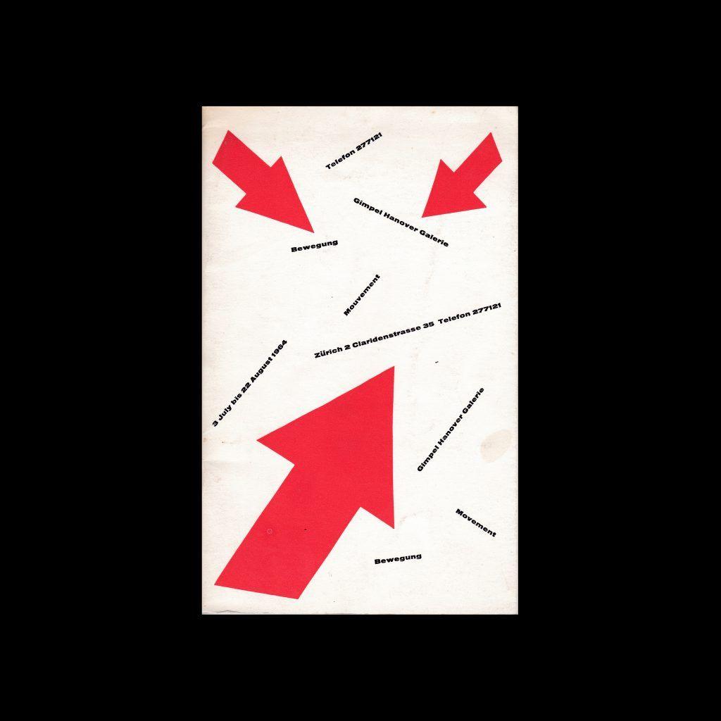 Bewegung Mouvement, Gimpel Hanover Galerie, Zürich, 1964