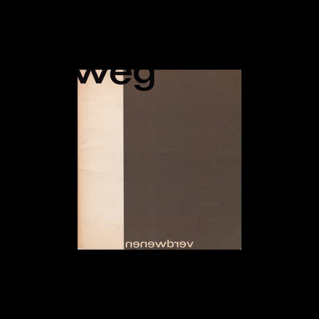 Weg. Verdwenen, Drukkerij W.C. den Ouden, Amsterdam, 1961 designed by Wim Crouwel