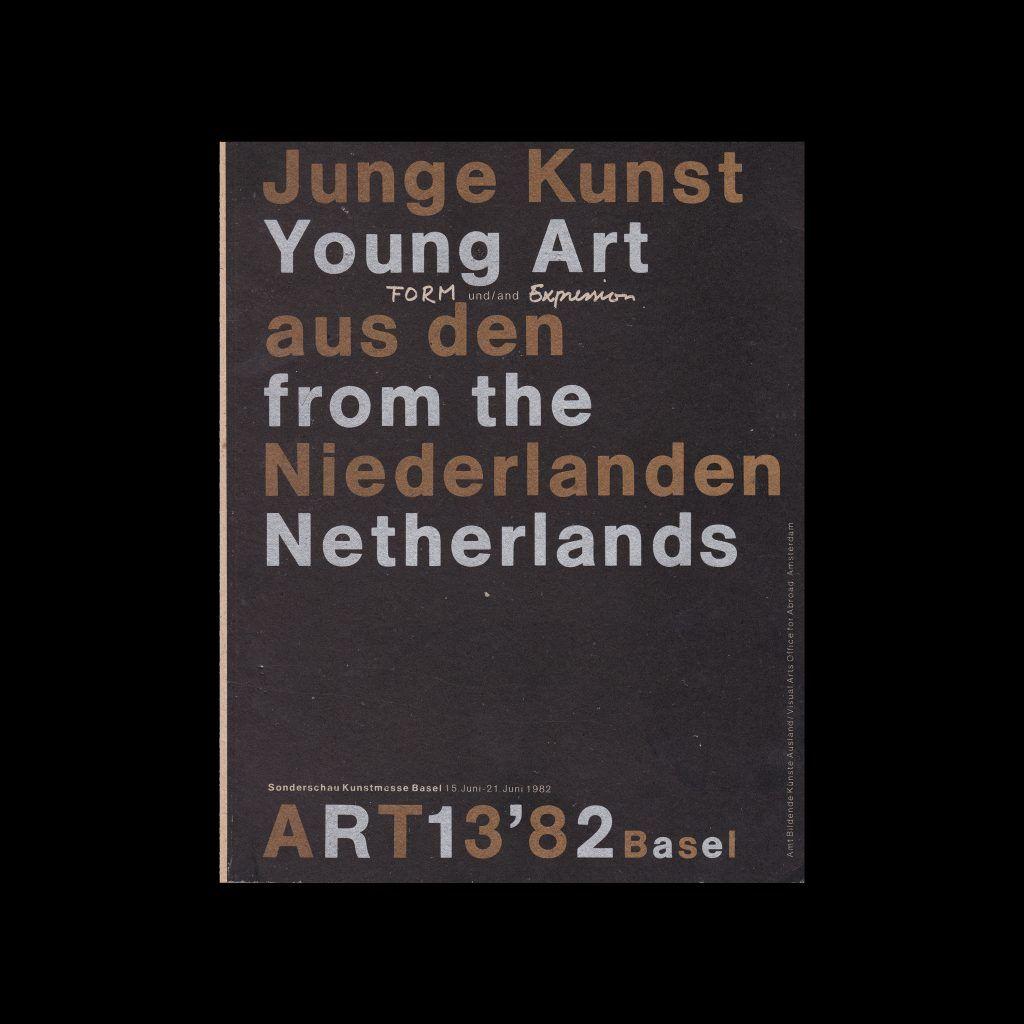 Young Art from the Netherlands, Sonderscha Kunstmesse Basel, 1982 designed by Jan Van Toorn
