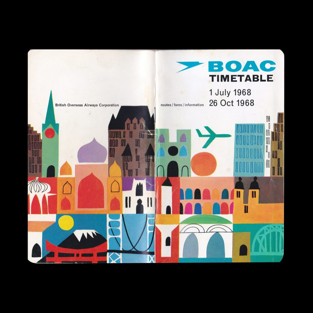 BOAC Timetable 1968