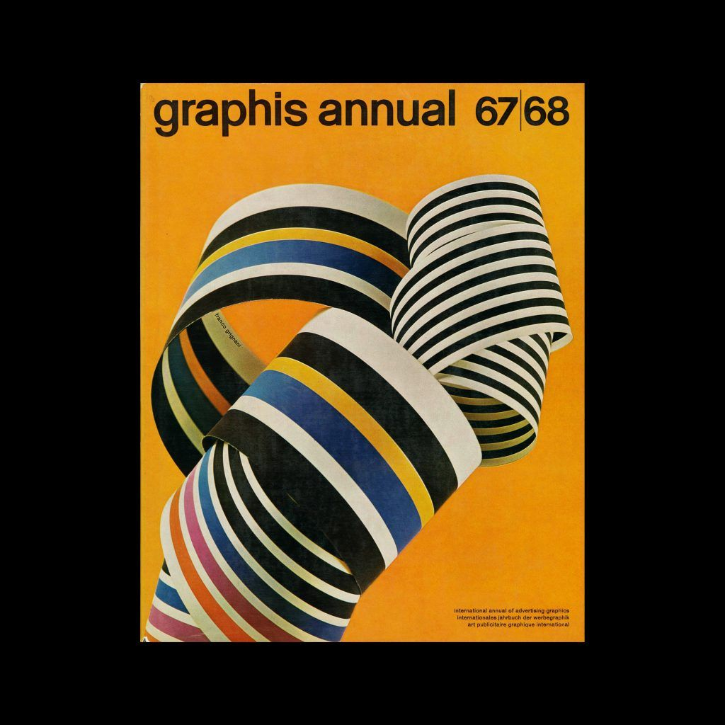 Graphis Annual 1967 68. Cover design by Franco Grignani