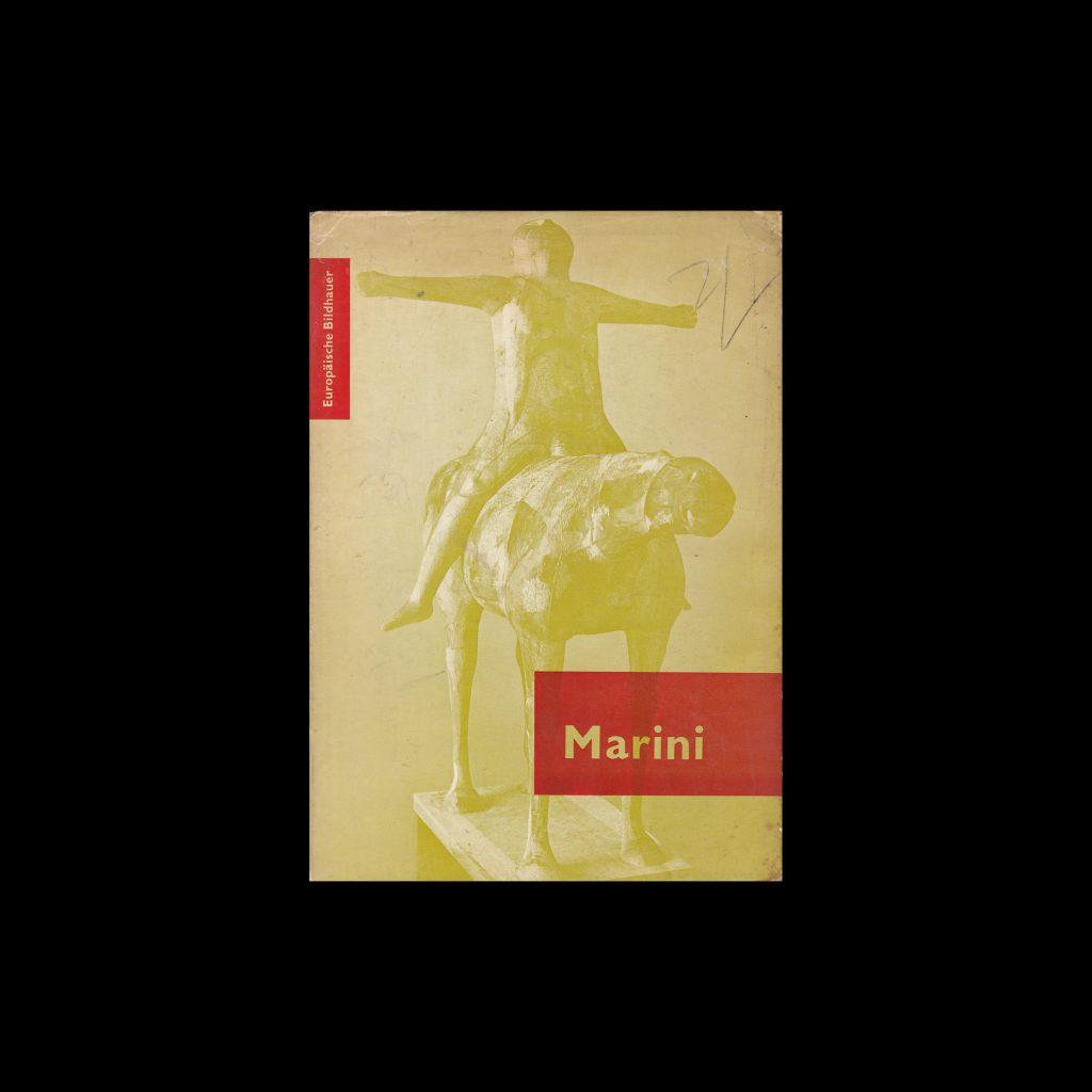 Marino Marini - Europäische Bildhauer, 1954. Designed by Otto Treumann