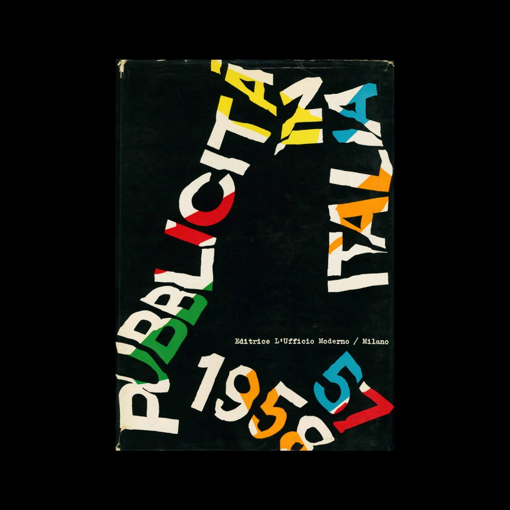 Pubblicità in Italia 1957-58. Cover design by Franco Grignani