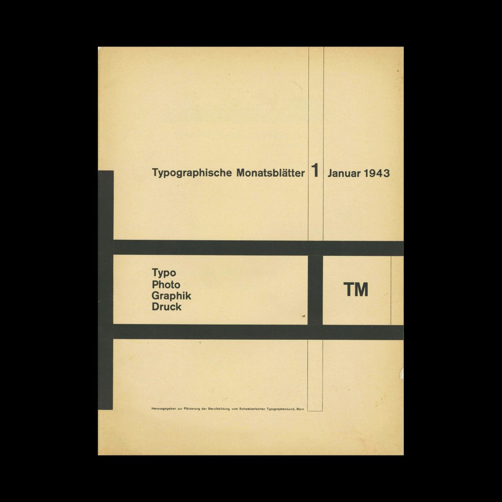 Typografische Monatsblätter, 1, 1943