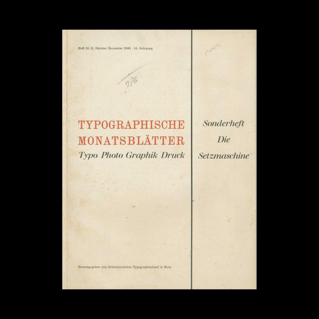 Typografische Monatsblätter, 10-11, 1946